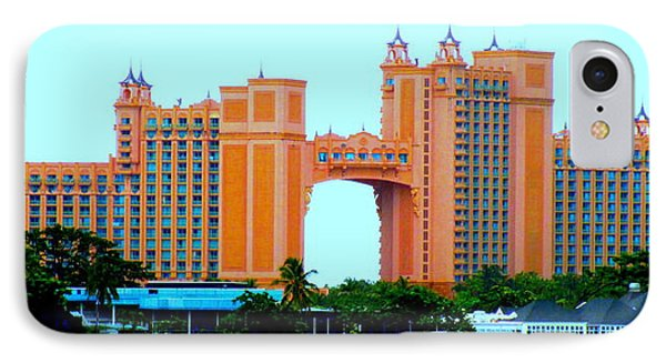 Atlantis Bahamas IPhone Case by Randall Weidner