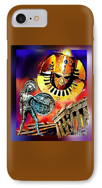 IPhone Case featuring the mixed media Atlantis - The Minoan Empire Has Fallen by Hartmut Jager