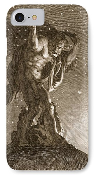 Atlas Supports The Heavens IPhone Case by Bernard Picart