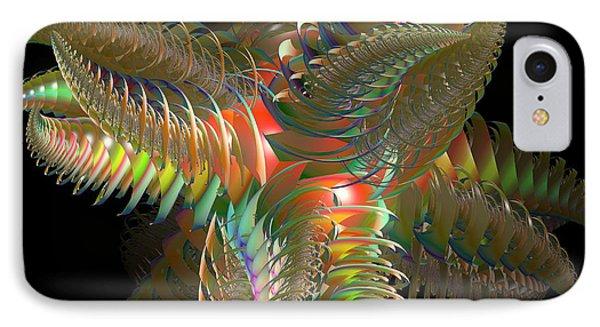 Atom Of Color Phone Case by Deborah Benoit