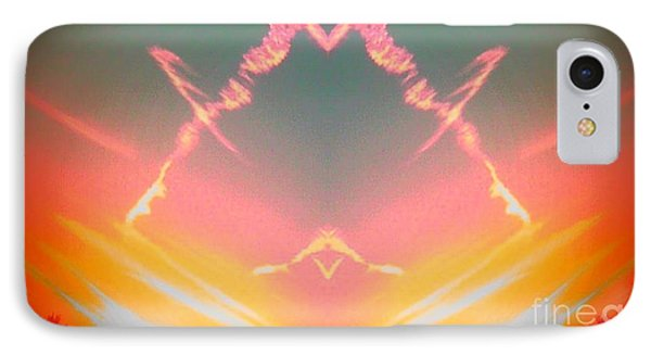 Atomic Contrail IPhone Case by Karen Newell