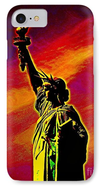 IPhone Case featuring the photograph Atomic Liberty by Andy Heavens