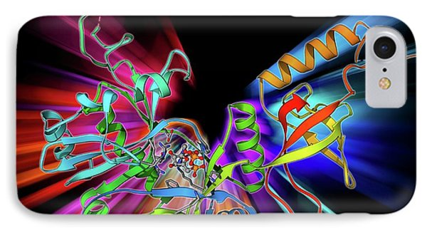 Atp-dependent Dna Ligase Molecule IPhone Case by Laguna Design