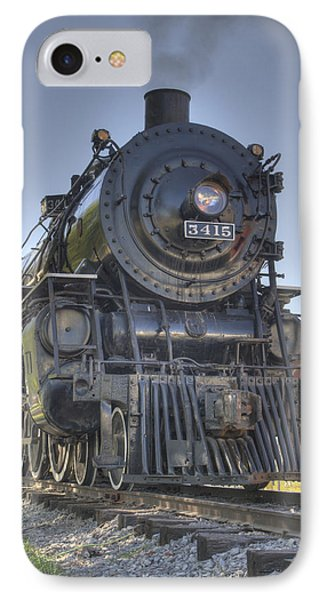 Atsf 3415 Head On IPhone Case by Shelly Gunderson