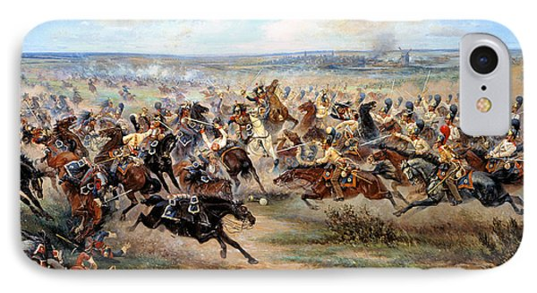 Attack Of The Horse Regiment Phone Case by Victor Mazurovsky