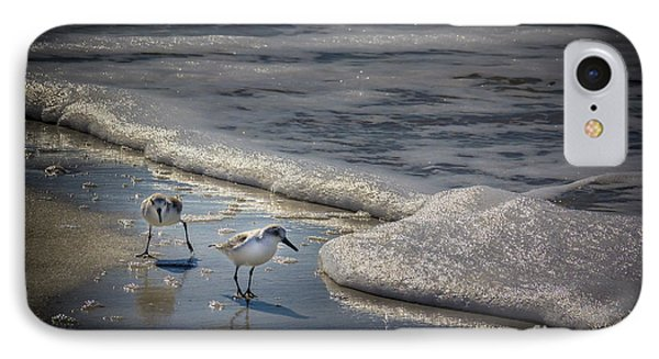 Sandpiper iPhone 7 Case - Attack Of The Sea Foam by Marvin Spates