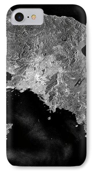 Attica Peninsula IPhone Case by European Space Agency