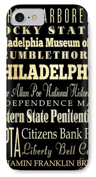 Attractions And Famous Places Of Philadelphia Pennsylvania Phone Case by Joy House Studio