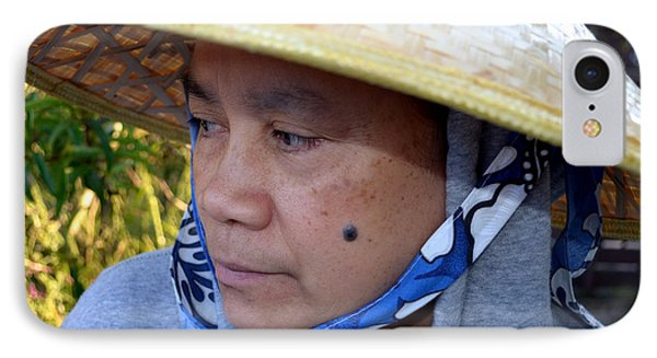Attractive Filipina Woman With A Mole On Her Cheek And Wearing A Conical Hat Phone Case by Jim Fitzpatrick