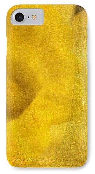 Au Coeur De La Jonquille Phone Case by Lisa Knechtel