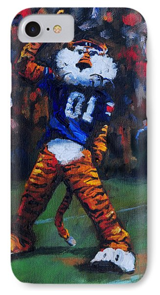 Aubie Doing His Thing IPhone Case by Carole Foret