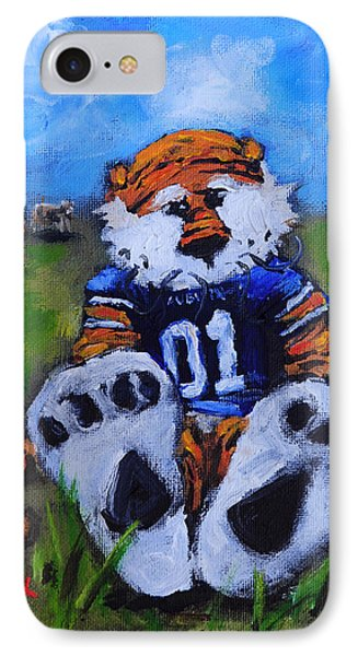 Aubie With The Cows IPhone 7 Case by Carole Foret