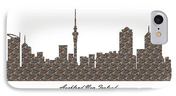 Auckland New Zealand 3d Stone Wall Skyline IPhone Case