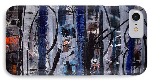 IPhone Case featuring the painting Audacity by Yul Olaivar