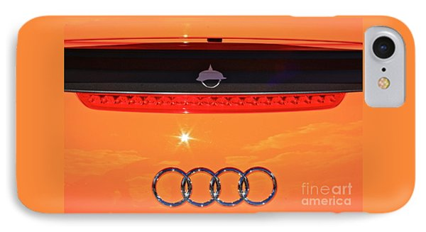 Audi Orange IPhone Case by Linda Bianic
