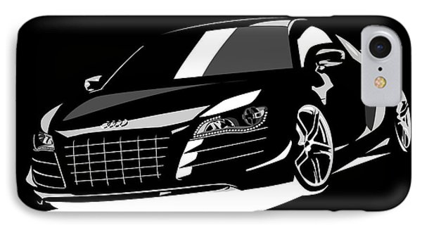 Audi R8 IPhone Case by Michael Tompsett