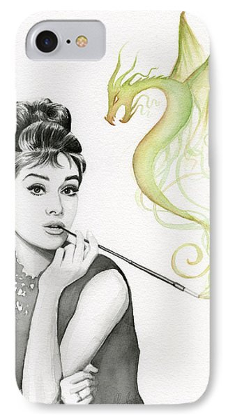 Dragon iPhone 7 Case - Audrey And Her Magic Dragon by Olga Shvartsur
