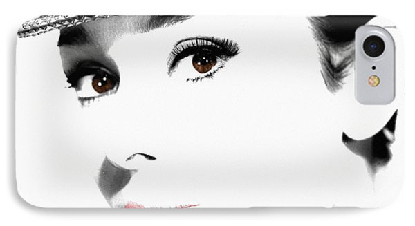 Audrey Hepburn 2 Phone Case by Andrew Fare