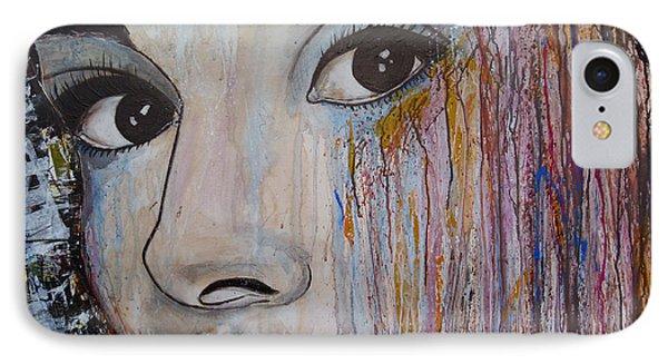 Audrey Hepburn-abstract 2 Phone Case by Ismeta Gruenwald