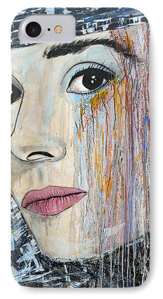 Audrey Hepburn-abstract Phone Case by Ismeta Gruenwald