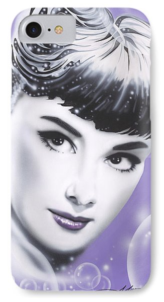 Audrey Hepburn Phone Case by Alicia Hayes