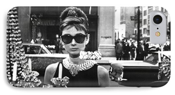Audrey Hepburn Breakfast At Tiffany's IPhone 7 Case by Georgia Fowler