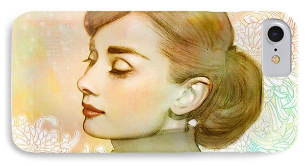 Audrey Hepburn IPhone 7 Case by Catherine Noel