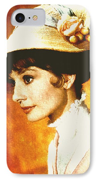 Audrey Hepburn - Impressionism IPhone Case