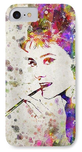 Audrey Hepburn In Color IPhone Case