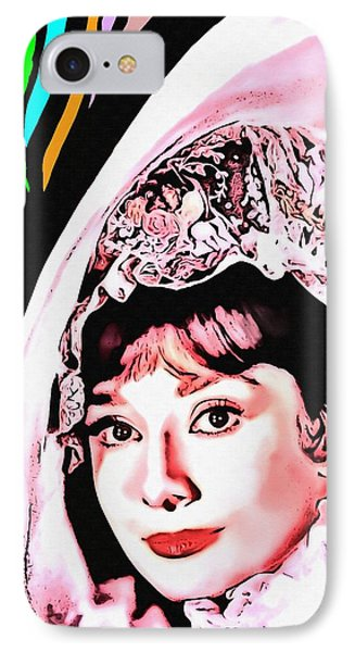 Audrey Hepburn In My Fair Lady IPhone Case by Art Cinema Gallery