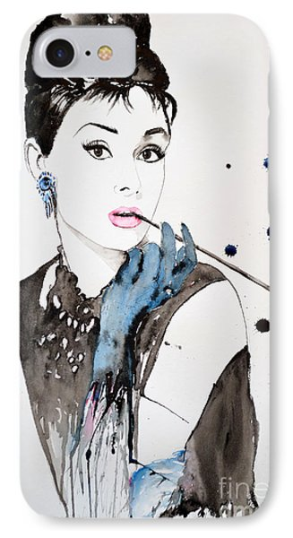 Audrey Hepburn Phone Case by Ismeta Gruenwald