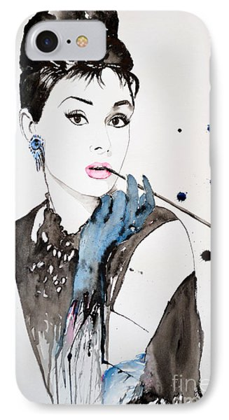 Audrey Hepburn IPhone Case by Ismeta Gruenwald