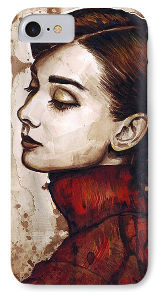 Audrey Hepburn IPhone 7 Case by Olga Shvartsur