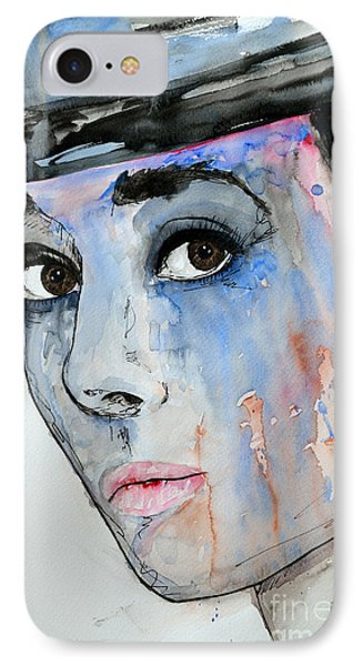 Audrey Hepburn - Painting IPhone Case by Ismeta Gruenwald