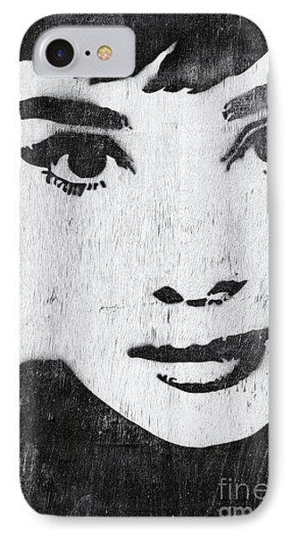 Audrey Hepburn IPhone 7 Case by Tim Gainey