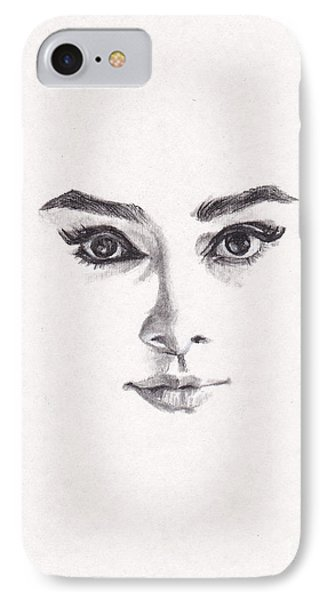 Audrey IPhone 7 Case by Lee Ann Shepard