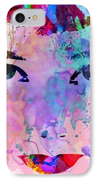 Audrey Watercolor IPhone 7 Case by Naxart Studio
