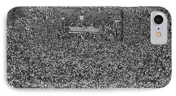 August 28, 1963 - Aerial View Of Crowd IPhone Case by Stocktrek Images