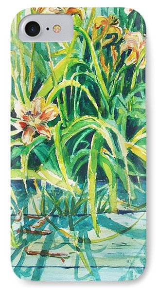 IPhone Case featuring the painting August Shadows by Joy Nichols