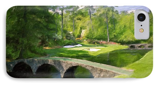 Augusta National Hole 12 - Golden Bell 2 IPhone Case by Scott Melby