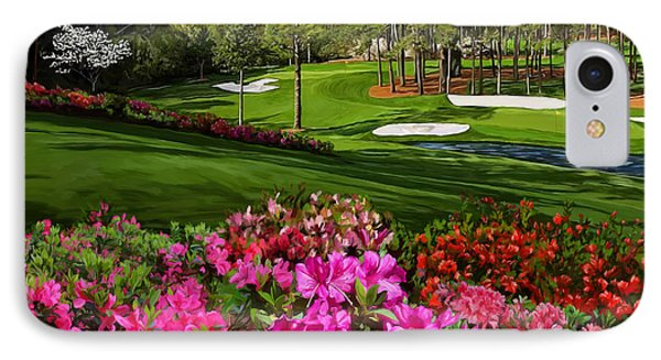Augusta Azaleas 16th And 6th IPhone Case by Tim Gilliland