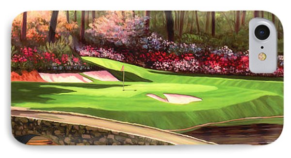 Augustas 12 Hole 28x9 IPhone Case by Tim Gilliland