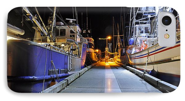 IPhone Case featuring the photograph Auke Bay By Night by Cathy Mahnke