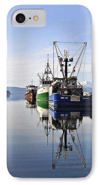 Auke Bay Reflection IPhone Case by Cathy Mahnke