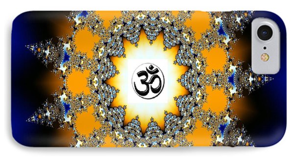 Aum Or Om Series - 33 IPhone Case by M Rao