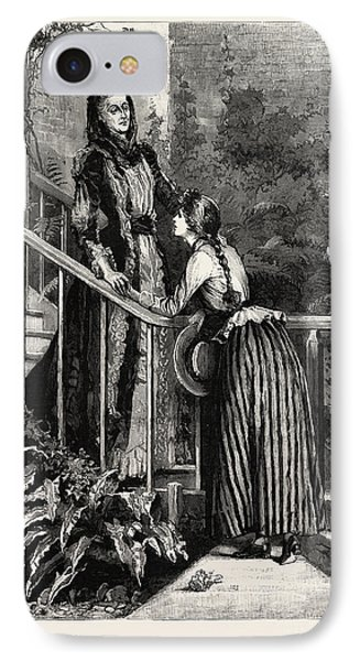 Aunt Charlotte And Mildred IPhone Case by Macquoid, Percy (1852-1925), English