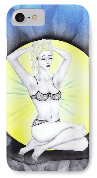IPhone Case featuring the drawing Aura by Kenneth Clarke