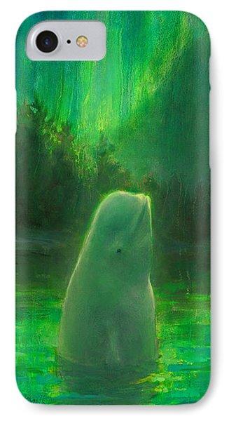 Aurora Beluga IPhone Case by Karen Whitworth