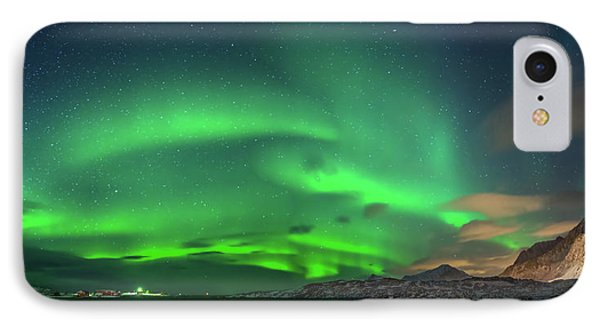 Aurora Borealis Above Ramberg, Lofoten IPhone Case by Panoramic Images