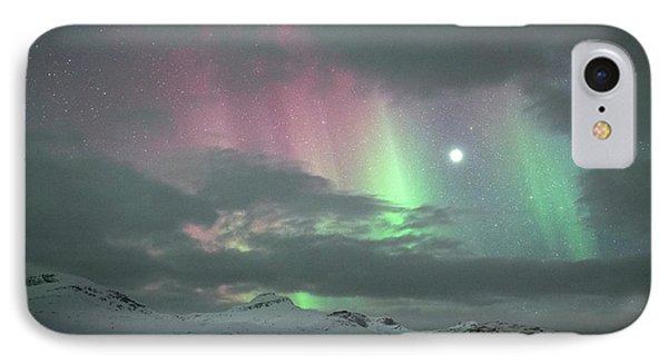 Aurora Borealis And Jupiter IPhone Case by Tommy Eliassen